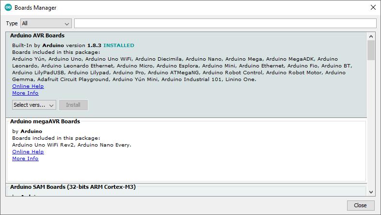 اضافه کردن برد جدید در آردوینو IDE
