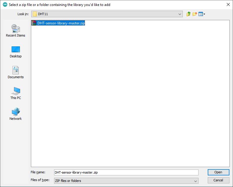 نصب کتابخانه با استفاده از فایل زیپ 2