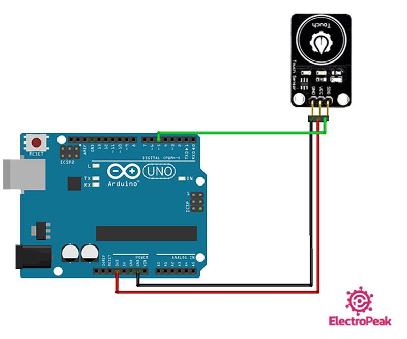سیم بندی مدار اتصال YwRobot به آردوینو