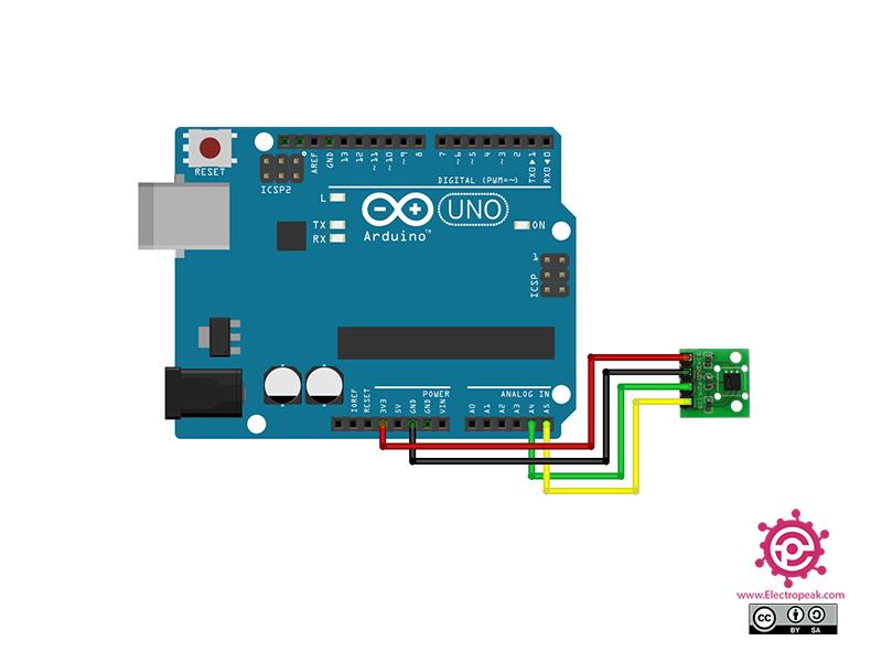 سیم بندی مدار اتصال SHT20 به آردوینو