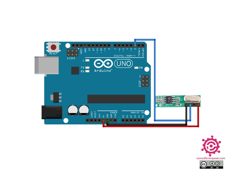 سیم بندی مدار اتصال RXB61 به آردوینو